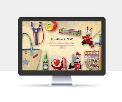 diseño página web artesania calvo