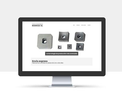 diseño página web cuchillas rodrigo