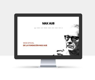diseño página web fundacion max aub