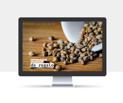 diseño página web grow and grow