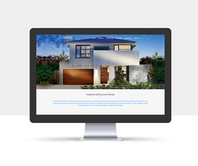 diseño página web puertas piquer