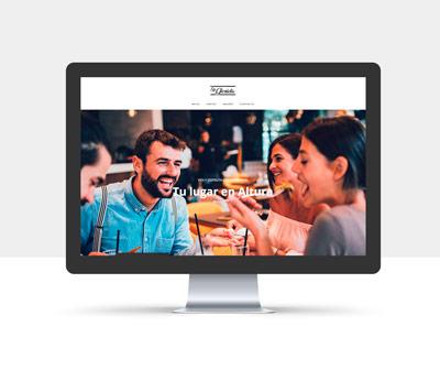 diseño página web restaurante glorieta