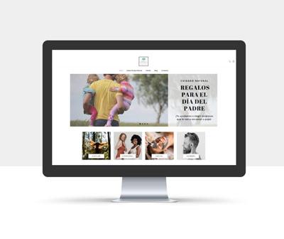 diseño página web simply natural