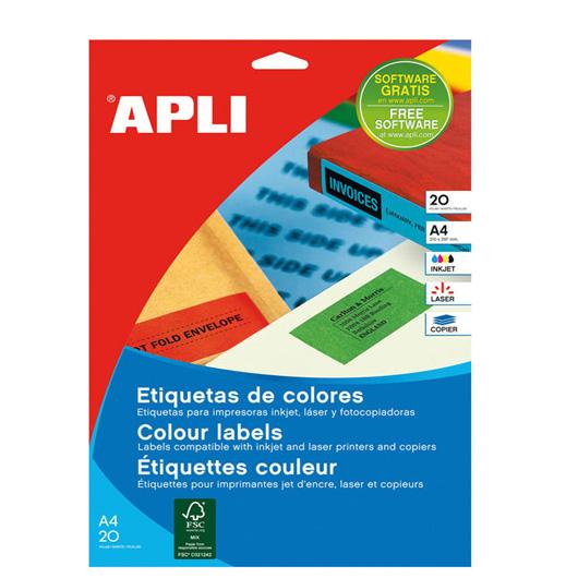 Etiquetas de colores apli